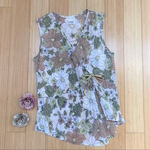 Anthropologie NEESH BY DAR floral tank top, M.